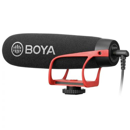 BOYA BY-BM2021 R SUPER CARDIOID VIDEO SHOTGUN MICROPHONE (RED BRACKET VERSION)
