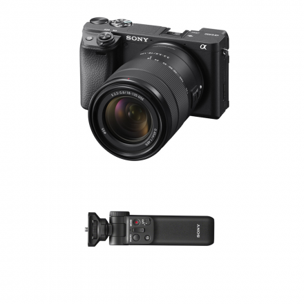 SONY ILCE-6400M A6400 MIRRORLESS DIGITAL CAMERA WITH 18-135MM LENS+ SONY GP-VPT2BT -BUNDLE