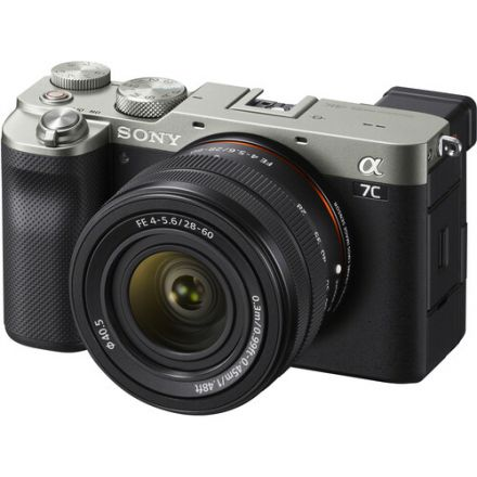 SONY ILCE-7C/L SQ AP2 ALPHA A7C MIRRORLESS DIGITAL CAMERA WITH 28-60MM LENS (SILVER)
