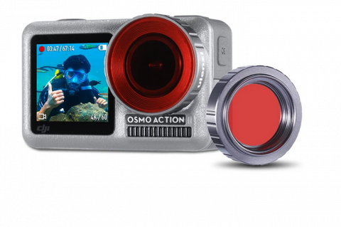 ULANZI OA-9 DIVE LENS FILTER FOR OSMO ACTION (PURPLE/RED/MAGENTA)