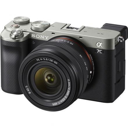 SONY ALPHA A7C MIRRORLESS CAMERA W/ 28-60MM LENS (SILVER)