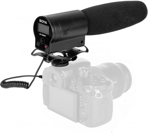 BOYA BY-DMR7 SHOTGUN MIC W/ FLASH RECORDER