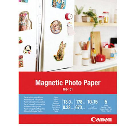 CANON MG-101 MAGNETIC PHOTO PAPER (10X15) 5 SHEETS