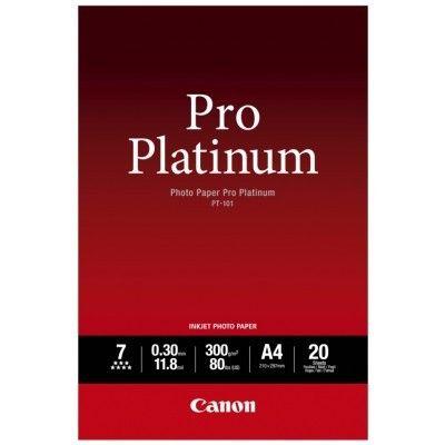 CANON PT-101 PHOTO PAPER PRO PLATINUM A4 / 20 SHEETS