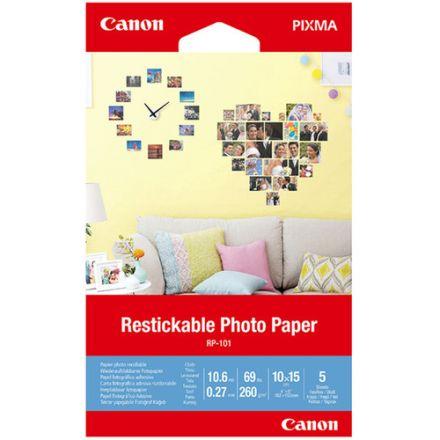 CANON RP-101 RESTICKABLE PHOTO PAPER (10X15) 5 SHEETS