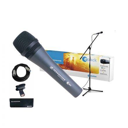 SENNHEISER E-PACK E835 MICROPHONE + XLR CABLE + K&M MIC STAND