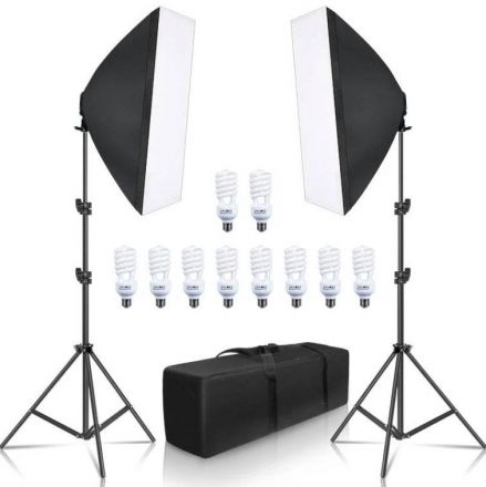 FARSEEING FSH5KIT- 2 LIGHT WITH 10 LAMP 30W+2 SOFTBOX 50X70