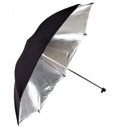 "PHOTTIX REFLECTOR UMBRELLA 101CM 40"" SILVER & BLACK"