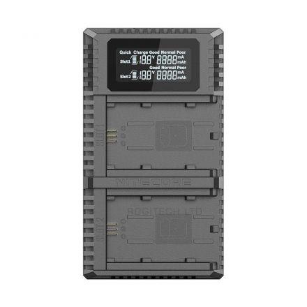 NITECORE USN4 PRO DUAL SLOT USB TRAVEL CHARGER FOR SONY NP-FZ100