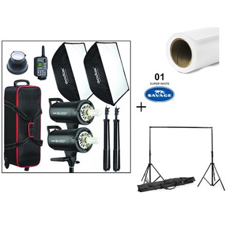GODOX FLASH SK400 WITH SAVAGE AND VISICO STAND BUNDLE OFFER