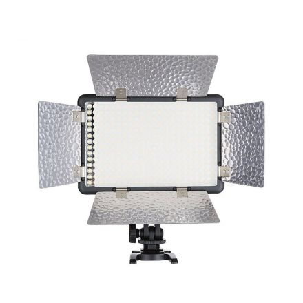GODOX 308 ON CAMERA PROFESSIONAL LED VIDEO LIGHT MULTI COLOR WITH BARN DOORS LED308II C