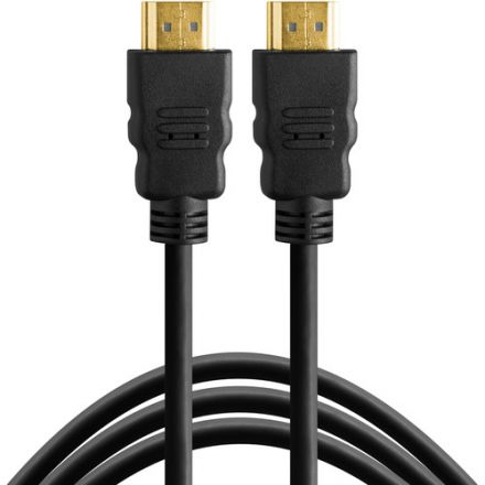 TETHERPRO CABLE HDMI (A) TO HDMI (A) 25FT(7.6M) BLACK TPHDAA25