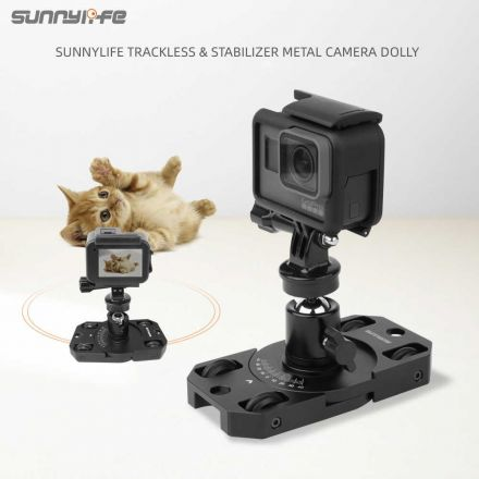 SUNNYLIFE TY-XC01 METAL STABILIZER MINI TRACKLESS CAMERA DOLLY FOR GOPRO/OSMO ACTION/OSMO POCKET/INSTA360
