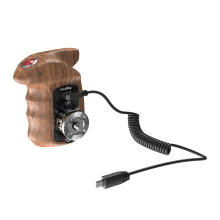 SMALLRIG HSR2511 RIGHT SIDE WOODEN HAND GRIP WITH RECORD START/STOP REMOTE TRIGGER FOR SONY MIRRORLESS CAMERAS