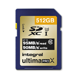 INTEGRAL SDXC 512GB CLASS10 95/90U1