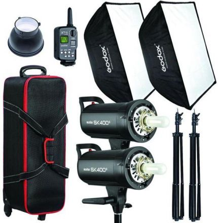 GODOX STUDIO FLASH KIT 2 HEADS 400W SK400II-2HEADS