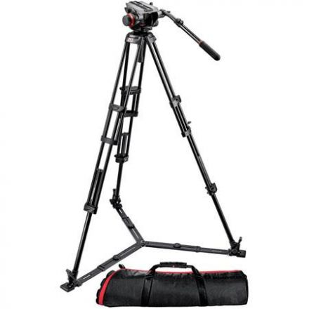 MANFROTTO VIDEO TRIPOD W/BAG 504HD,546GBK