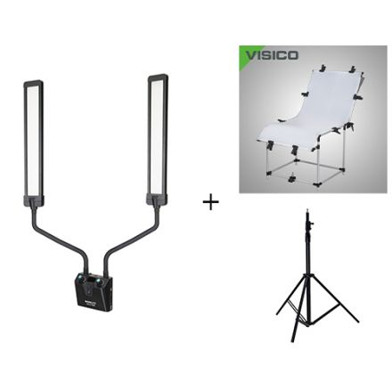 NANLITE MIRA 26B W/ PHOTO TABLE & VISICO LIGHT STAND  BUNDLE