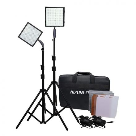 NANLITE CN-576 2KIT+T LED OUTDOOR LIGHT 70W PORTABLE PHOTO STUDIO LIGHT KIT