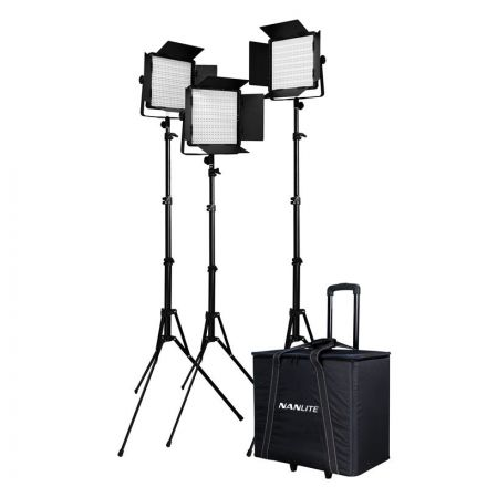 NANLITE 600CSA 3KT WITH 186 LIGHT STAND & CN-L3 CASE