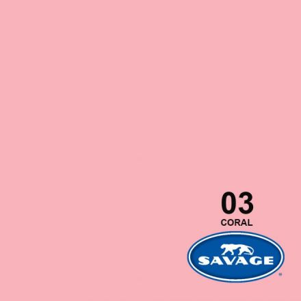 SAVAGE 03-1253 WIDETONE SEAMLESS BACKGROUND PAPER CORAL (A2 1.35M X 11M)