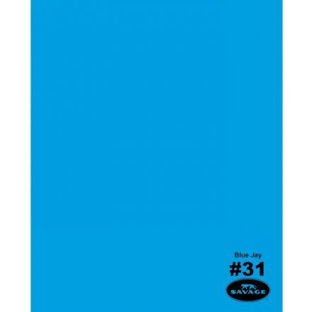 SAVAGE 31-1253 WIDETONE SEAMLESS BACKGROUND PAPER BLUE JAY (A2 1.35M X 11M)