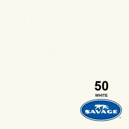 SAVAGE 50-12 WIDETONE SEAMLESS BACKGROUND PAPER WHITE (A1 2.72M X 11M)