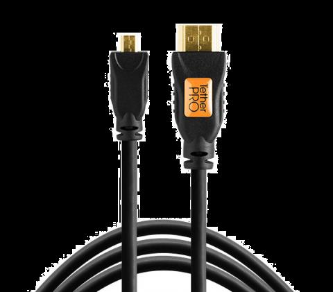 TETHERPRO TPHDDA3 MICRO HDMI (D) TO HDMI (A) CABLE - 3FT (1M) BLACK