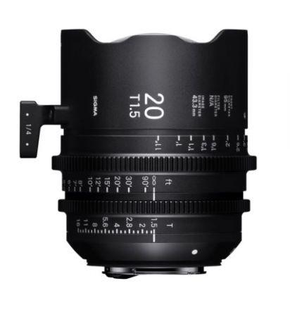 SIGMA CINE LENS 20MM T1.5 FF F/CE (METRIC