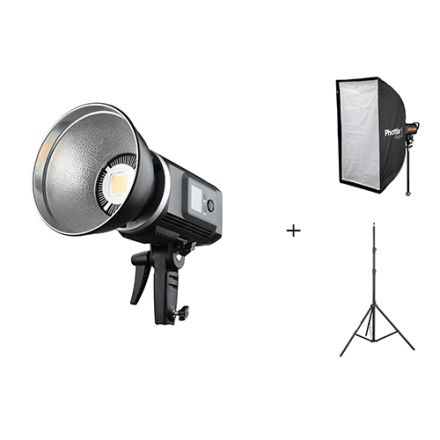 GODOX SLB60Y LED W/ PHOTTIX RAJA AND VISICO AIR STAND BUNDLE