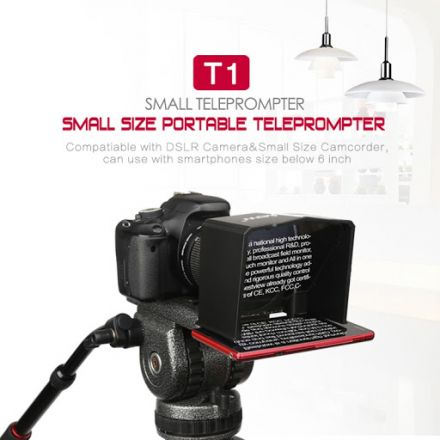 BESTVIEW T1 TELEPROMPTER PORTABLE SMARTPHONE PROMPTER FOR CANON / NIKON / SONY CAMERA DSLR WITH REMOTE