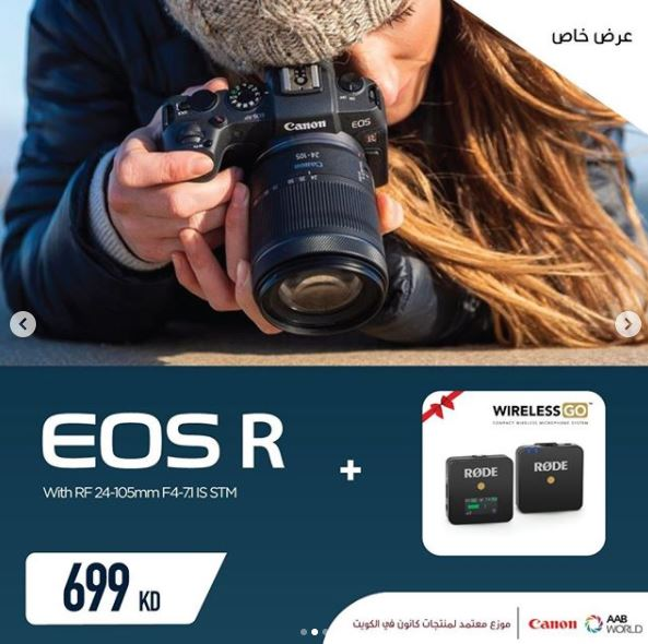 CANON EOS R WITH RF 24-105 AND -RODE WIRELESS GO BUNDLE OFFER