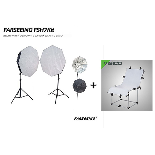 FARSEEING FSH7KIT WITH VISICO PHOTO TABLE PT-0613 BUNDLE OFFER