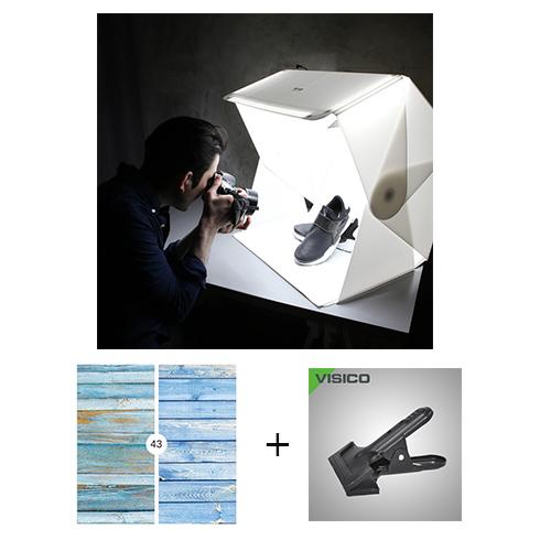ORANGEMONKIE FOLDIO 3  W/  JOY BACKGROUND 2 SIDE &  VISICO CLAMP BUNDLE OFFER
