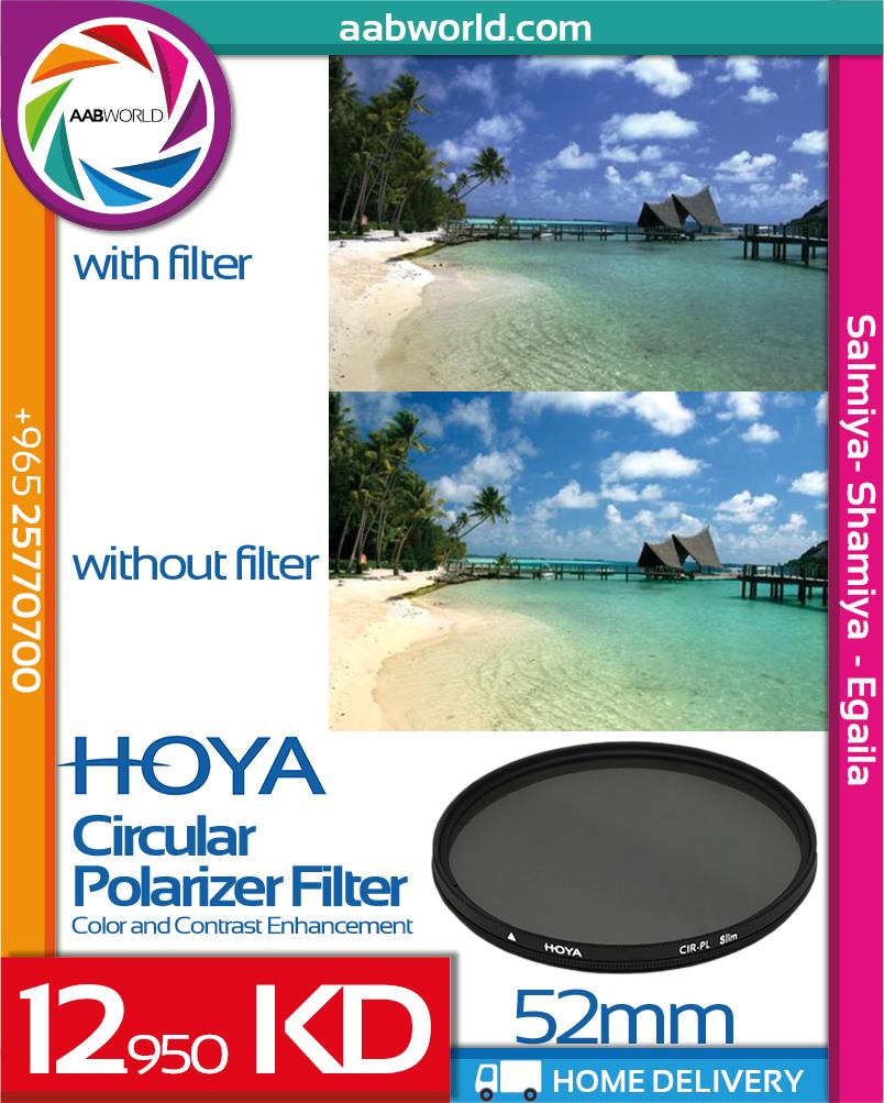 HOYA FILTER CIRCULAR POLARIZER 52MM