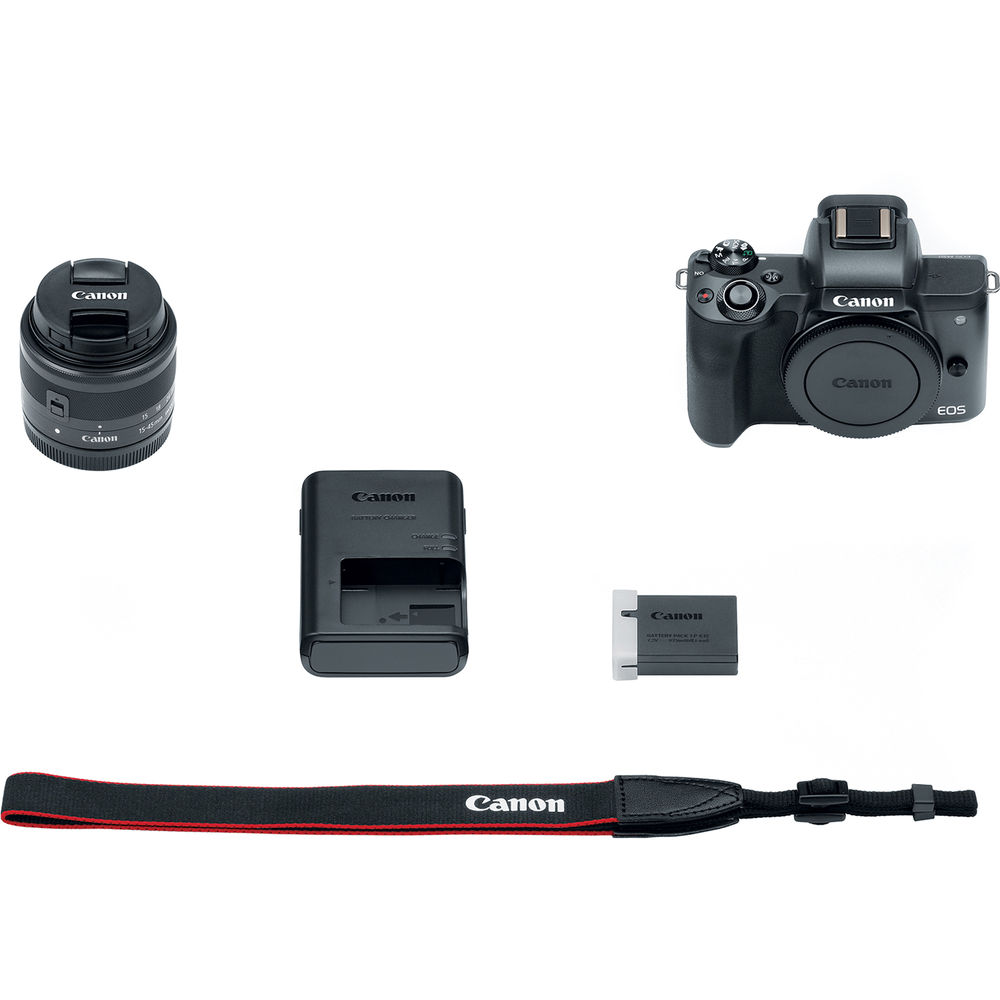 CANON EOS M50 MIRRORLESS CAMERA + 15-45MM LENS