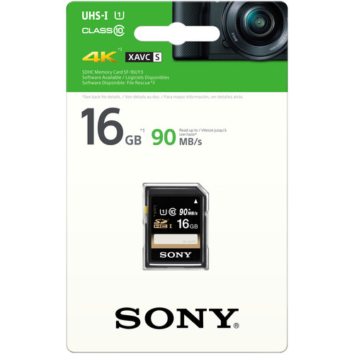 SONY SF-16UY3 16GB UHS-I SDHC MEMORY CARD