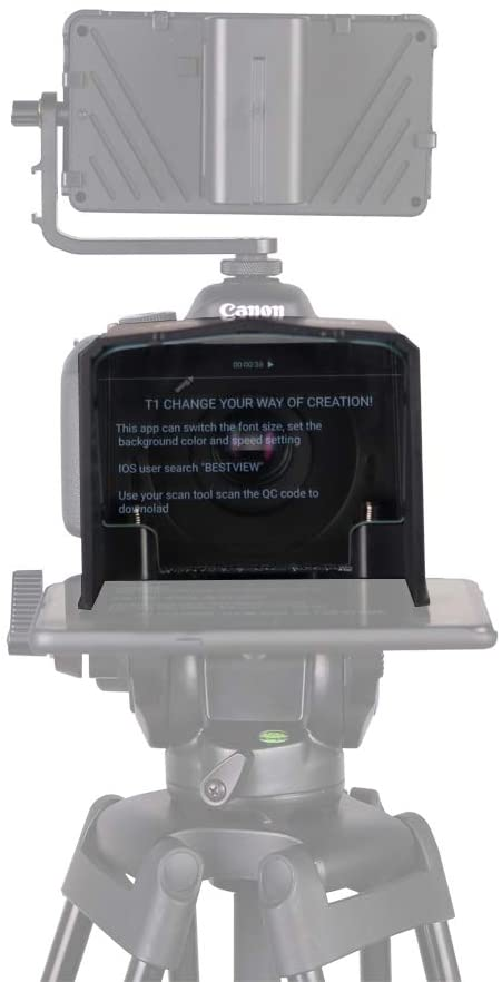 BESTVIEW T1 SMARTPHONE TELEPROMPTER FOR CAMERA W/ REMOTE
